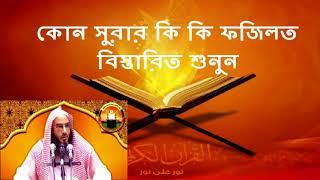 কোন সুরার কি কি ফজিলত বিস্তারিত শুনুন - শায়খ মতিউর রহমান মাদানী  | Shaykh Motiur Rahman Madani