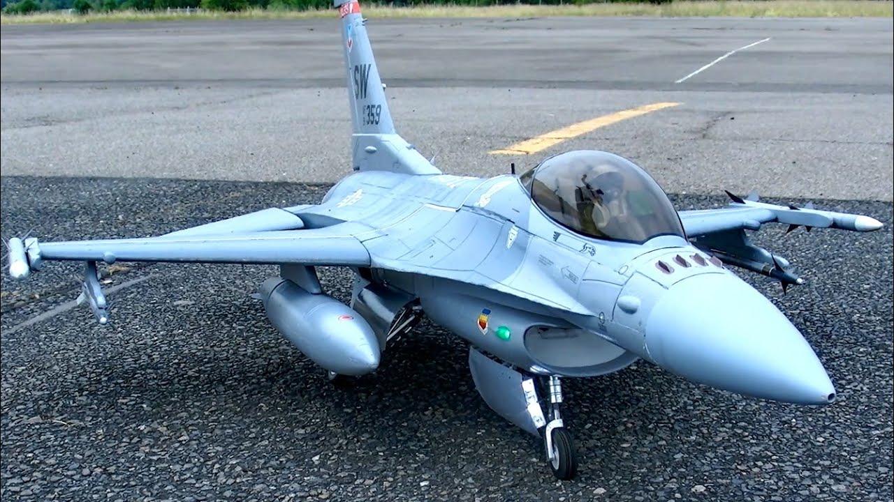 F-16 EDF RC ELECTRIC JET MODEL FLIGHT / READY 2 FLY ...