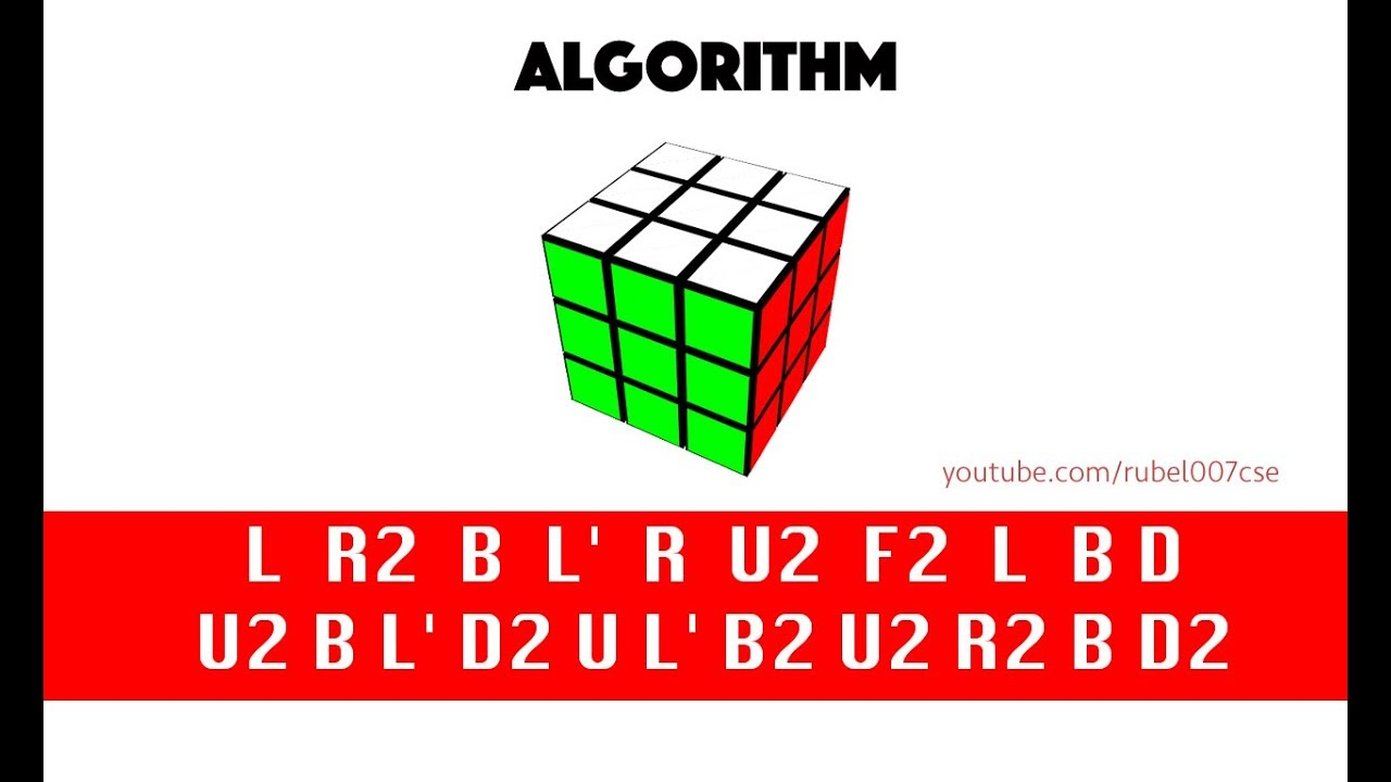 how to solve the rubik s cube using algorithm universal solution  [ 1280 x 720 Pixel ]