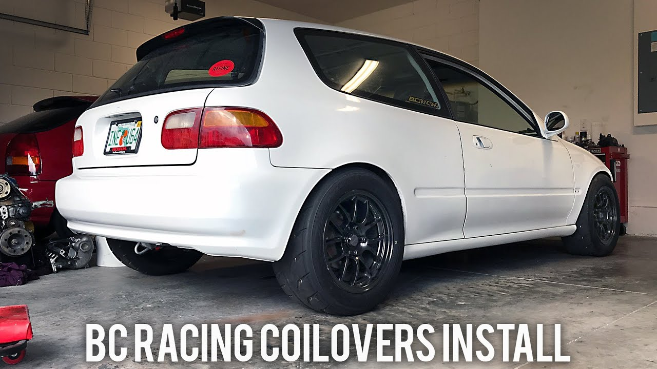 BC RACING COILOVERS INSTALL CIVIC EG