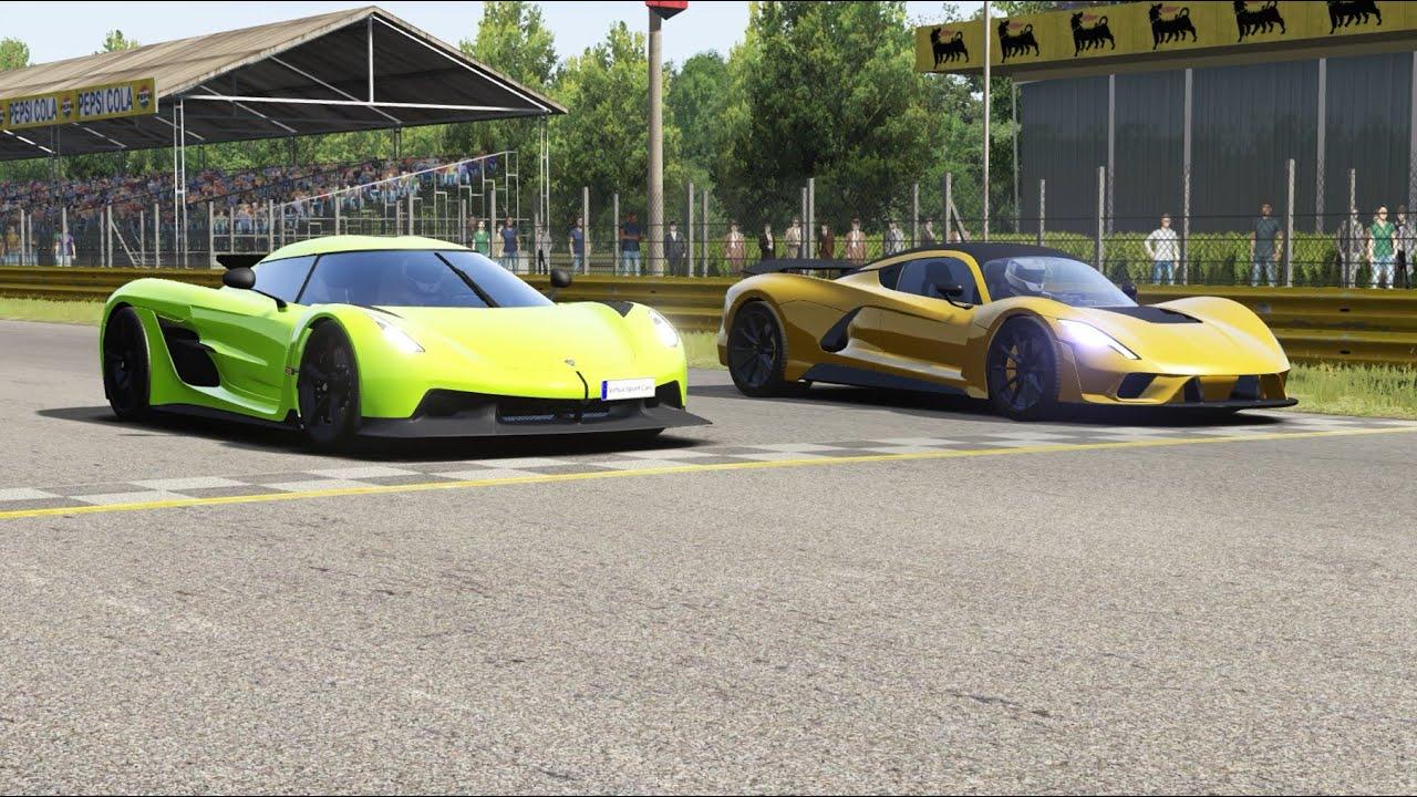Aspark Owl Electric Hypercar vs Koenigsegg Agera R at Monza Full Course