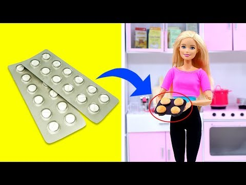 DIY BARBIE HACKS AND CRAFTS: 11 Miniature Easy Kitchen Crafts Ideas