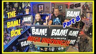 The BAM! Box MEGA Unboxing!!   Part 8   Horror Box   9.18   We got a GOLDEN TICKET!!   Guru Reviews