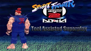 Street Fighter Zero 2 Alpha (Survival Mode) - Shin Gouki【TAS】
