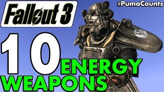 Top 10 Best and Most Powerful Energy Guns and Weapons in Fallout 3 #PumaCounts