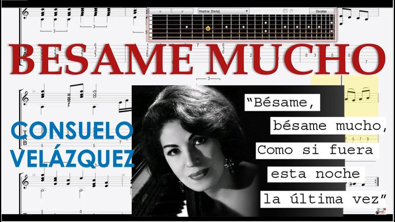 Besame mucho tablaturas tutorial guitarra tabs youtube for Partituras guitarra clasica