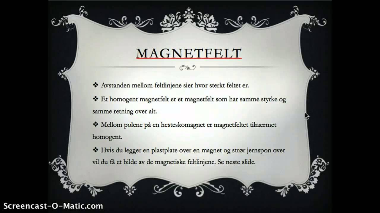 6B Magnetisk felt
