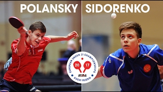 Tomas Polansky (CZE) - Vladimir Sidorenko (Rus). European U21 Championships-2017
