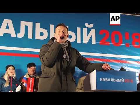 Alexei Navalny rally passes peacefully