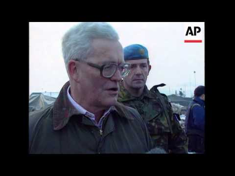 Bosnia - Douglas Hurd Visit