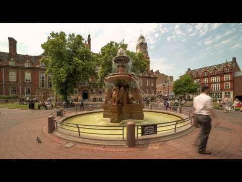 Leicester Town Hall Square Time Lapse 4K