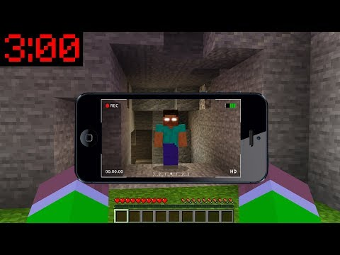 Minecraft PE : DO NOT ENTER HEROBRINE'S CAVE At 3:00AM