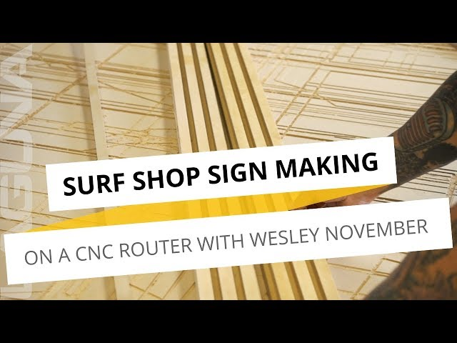 Surf Shop Wall Decoration Making On A CNC Router | With Wesley November and Laguna Tools