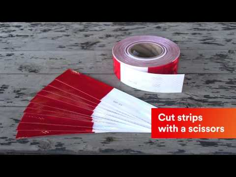 How to Apply Red and White 3M™ Diamond Grade™ Series 983 Tape