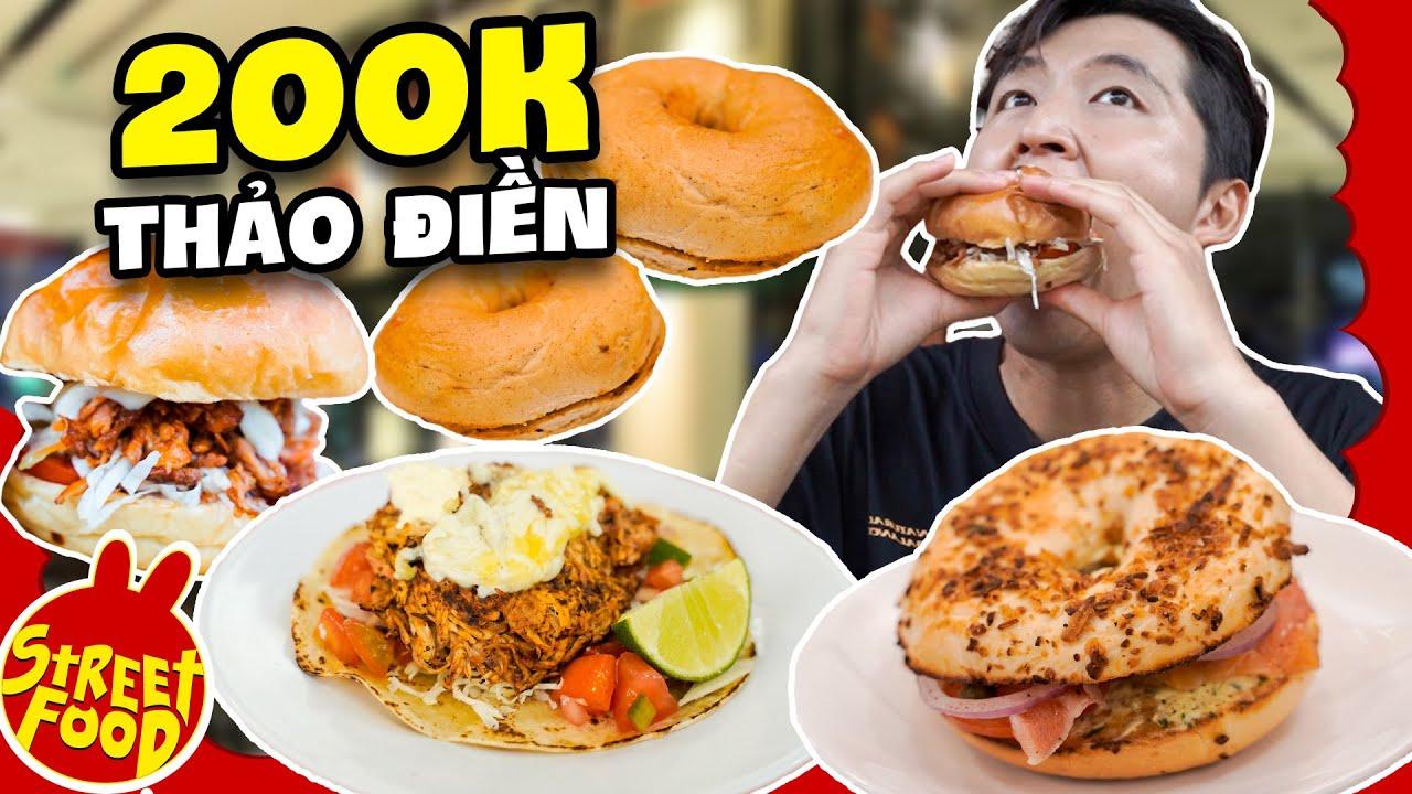 Burger Heo Nấu Chậm Ngập Tràn Sốt   200K Ăn Sạch Món Tây Khu Thảo Điền   ĂN HÀNG 200K