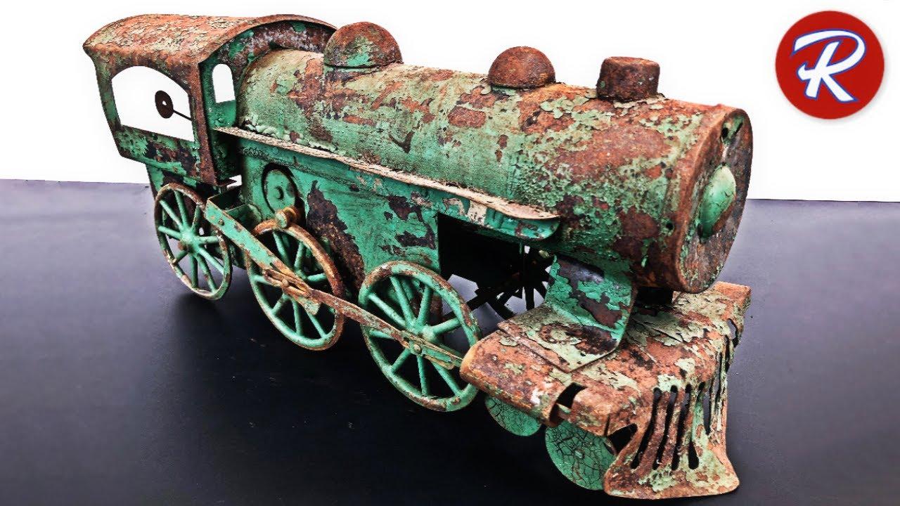 1920s Dayton Train Restoration - Antique Locomotive