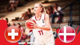 Switzerland v Denmark - CL 13-16- Full Game - FIBA U18 Women's European Championship Division B 2018