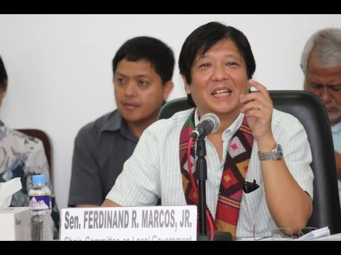 Sen. Bongbong Marcos - Public Consultation in Jolo Sulu  21-May-2013