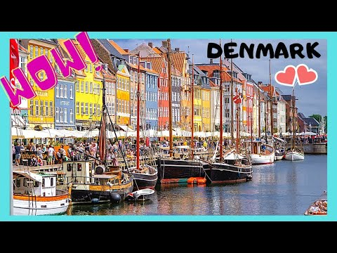 COPENHAGEN, walking along its beautiful and historic canals, DENMARK
