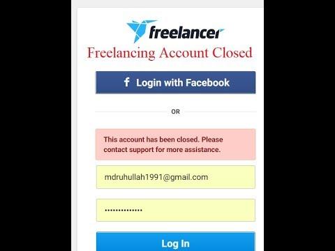 Freelancing Account Closed