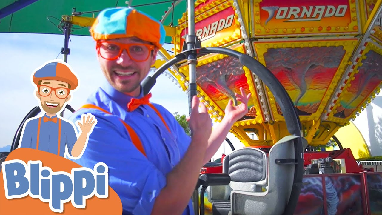Blippi Visits A Kids Theme Park And More Learning With Blippi | Educational Videos For Kids