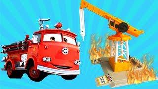 Мультик Про Машинки Помощники - Пожарная Машина и Полиция - Мультики для детей 2019