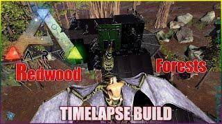 Ark Survival Evolved   Tree Platform Redwood Forests Base Build Time Lapse  (Part 1)