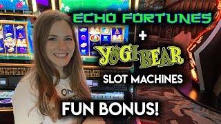 NEW! Yogi Bear Slot Machine!! BONUSES!! Nice WIN!!