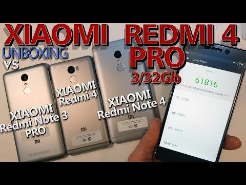 Xiaomi Redmi 4 Pro c Aliexpress| Vs. Xiaomi Redmi 4, Note 4, Note 3 Pro. Распаковка-сравнение