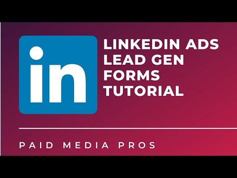 LinkedIn Lead Gen Forms Set Up