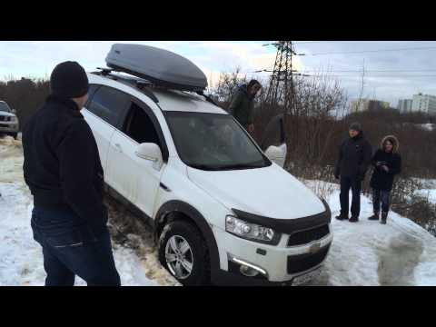 Snow off-road in Moscow with multiple SUV