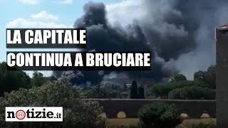 Roma, incendio in via Appia Nuova: colonna di fumo nero nel cielo | Notizie.it
