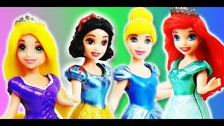 Disney Play doh princess Elsa, Anna, Rapunzel, Cinderella - NEW video of How to by supercool4kids