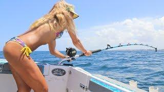 Shark Week! Massive Shark Caught by Fishing Girl Deep Sea Fishing