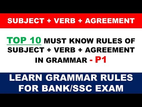 Top 10 Must Know Subject Verb Agreement Rules For Bankssc Exam P1