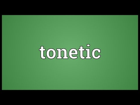 Tonetic Meaning