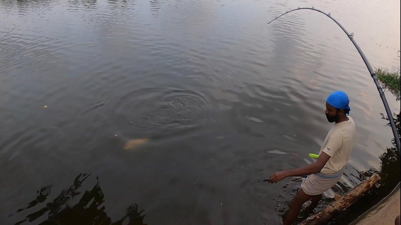 Kerala river fishing for Barramundi