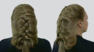 Праздничная Прическа на Длинные Волосы| Видео Урок| Holiday Hairstyle for Long Hair| Tutorial