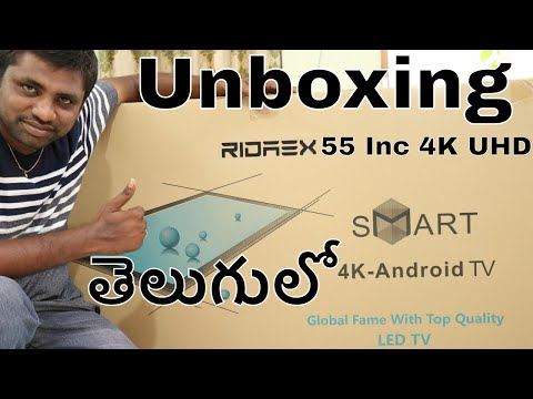 Ridaex RE Pro 55 Inch 4K UHD Smart LED Tv Unboxing & Initial Impression || In Telugu- On Google