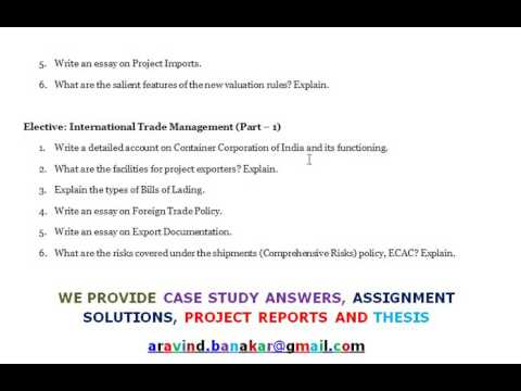 Essay on international trade