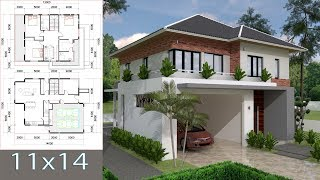 Video Sketchup Villa Design 11x13m Two Stories House with 3 bedroom download MP3, 3GP, MP4, WEBM, AVI, FLV Desember 2017