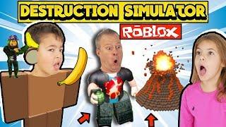 ROBLOX DESTRUCTION Simulator & Gorilla Simulator 2 - YG Family Gaming