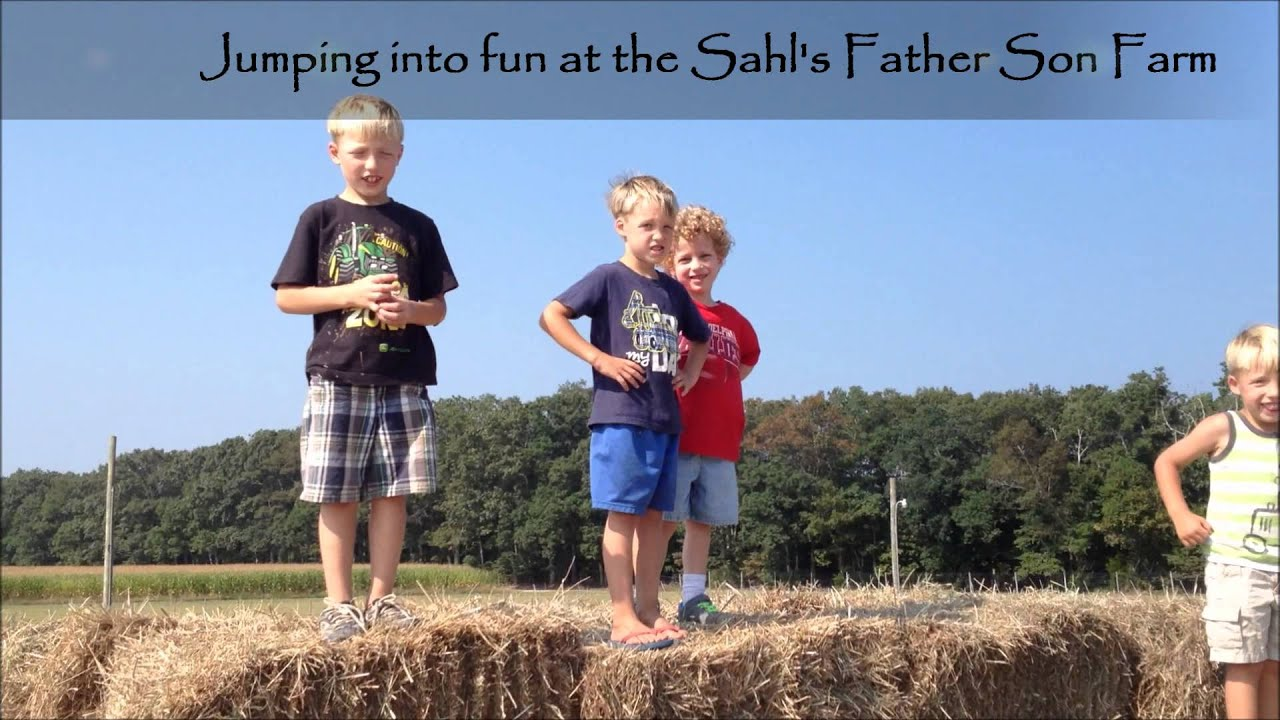 Jumping Into Fun At The Sahls Father Son Farm Galloway New Jersey Youtube