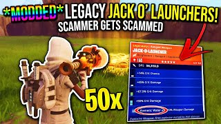 I Took His 50 Modded Legacy Jack'o Launchers! (Scammer Gets Scammed) In Fortnite Save The World