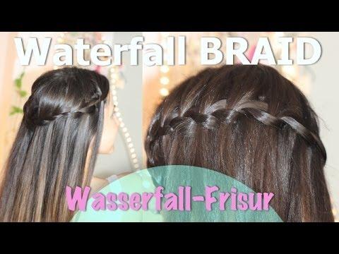 Wasserfall Frisur I Einfache Anleitung YouTube