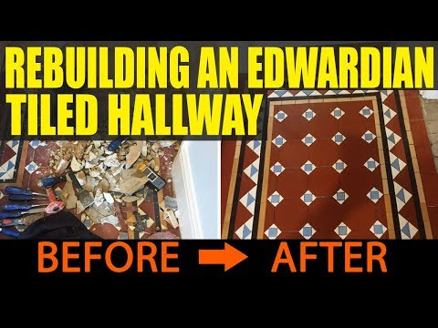 Rebuilding And Restoring An Edwardian Tiled Hallway In Bewdley Youtube
