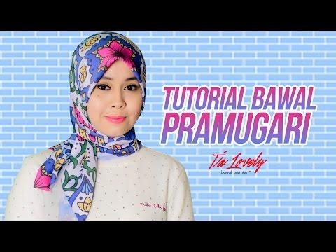 Tutorial Tudung hijab Bawal Style Pramugari Raya Editon