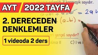 2. DERECEDEN DENKLEMLER AYT2021