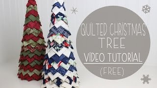 Quilted Christmas Tree Tutorial (no Sew) | Fabric Tree