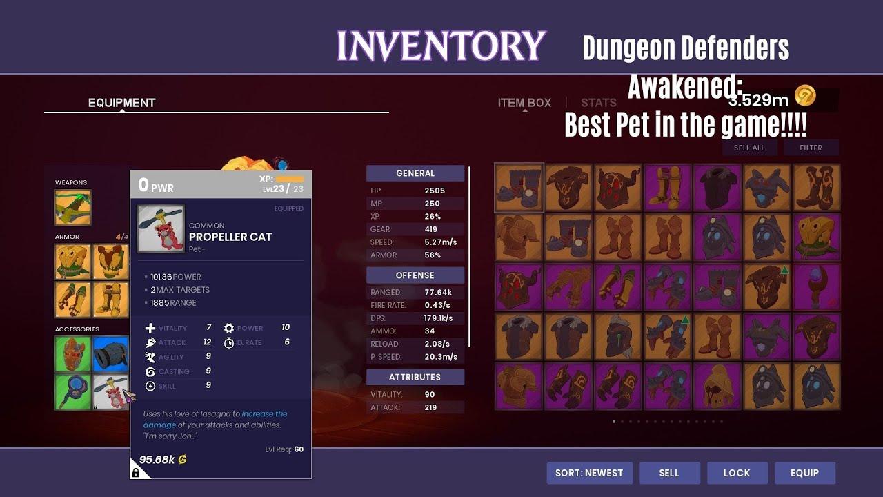 Dungeon Defenders Awakened Old Best Dps Pet 6mil Dps Youtube